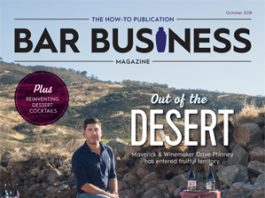 2018 October Issue Bar Business Magazine Detailing POS Technology and Dave Phinney