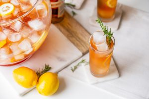 Basil Hayden's® Bourbon lemon-rosemary punch