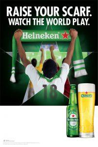 soccer-themed POS raise your scarf