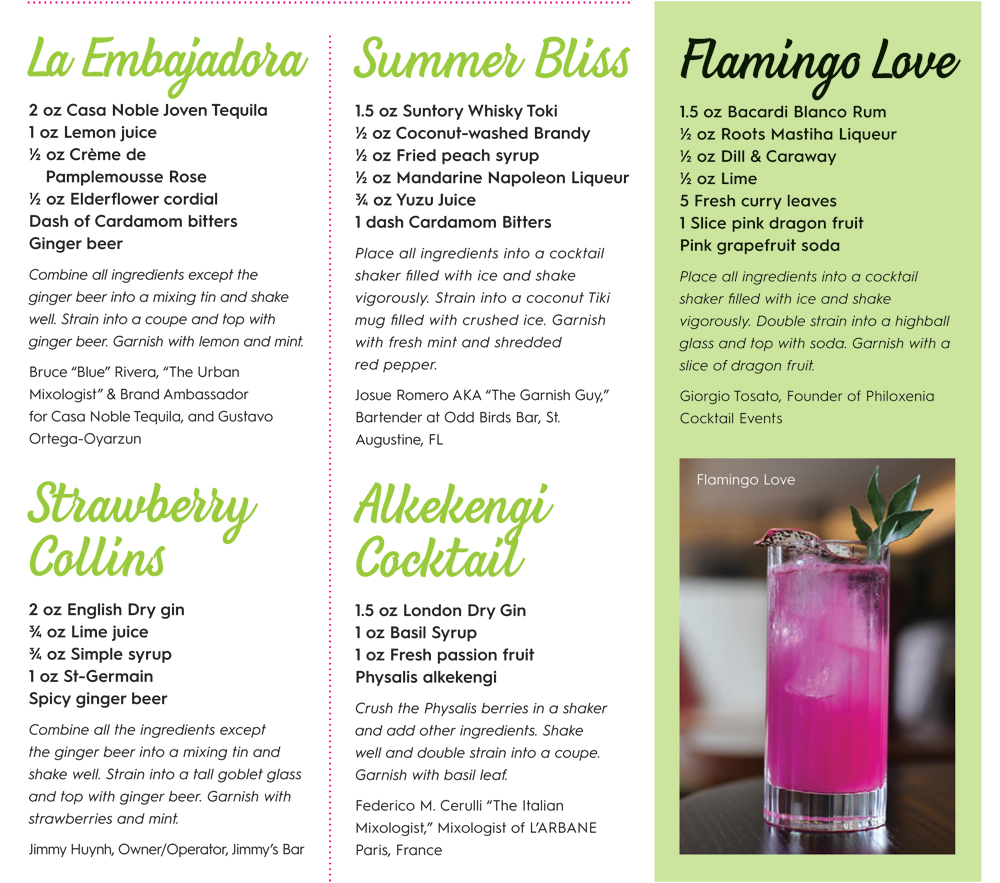 Summer Season Drink Recipes For Restaurants & Bars