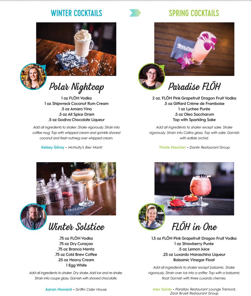 Floh Vodka Seasonal Cocktail Recipes