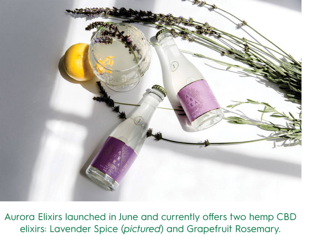 Aurora Elixirs a Oregon-based brand of hemp and cannabis tonics