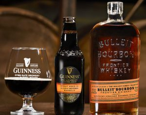 Stout Aged in Bulleit Bourbon Barrels open gate brewery