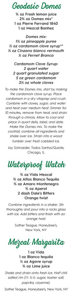 mezcal recipes