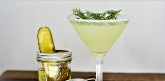 dill pickle martini cocktail recipe
