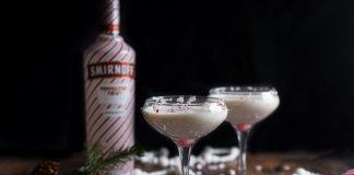 Smirnoff Peppermint Bark Martini cocktail recipe