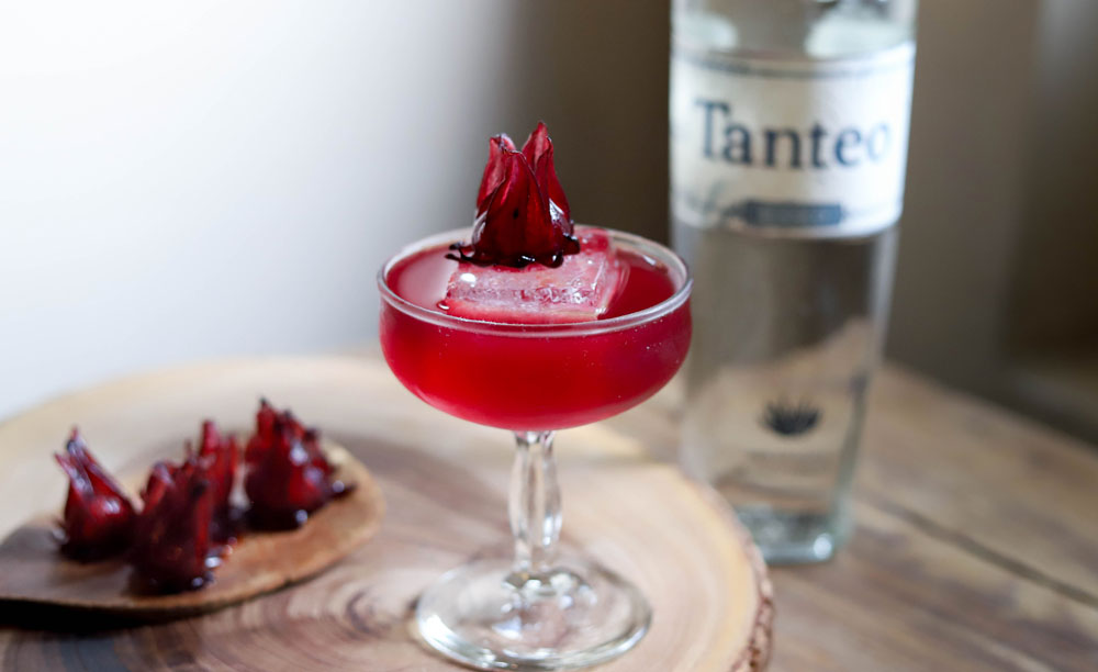 Tanteo Tequila Red Ruby Margarita cocktail recipe