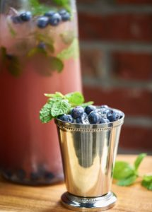 blueberry mint smash memorial day cocktail recipes