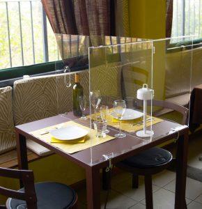 table divider in restaurants hostmilano
