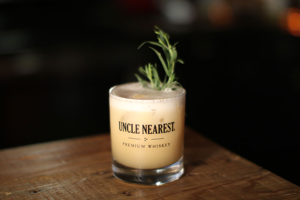 Tarragon Whiskey Sour Uncle nearest covid-19 cocktail recipe