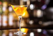 Mandarin Orange Martini Vegas Baby Vodka cocktail recipe
