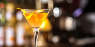Mandarin Orange Martini Vegas Baby Vodka cocktail recipe