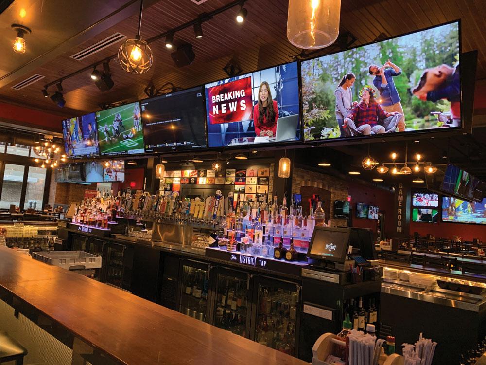 District Tap TV entertainment