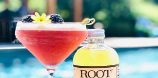 lemongrass blackberry martini