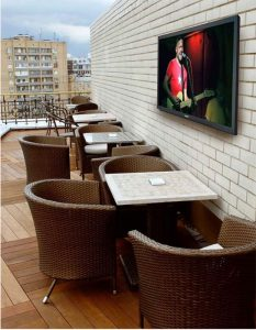 SunBriteTV outdoor seating