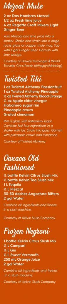 cocktail recipes mixers