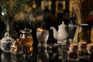 hot ginger toddy fall cocktail recipes Brockmans Gin