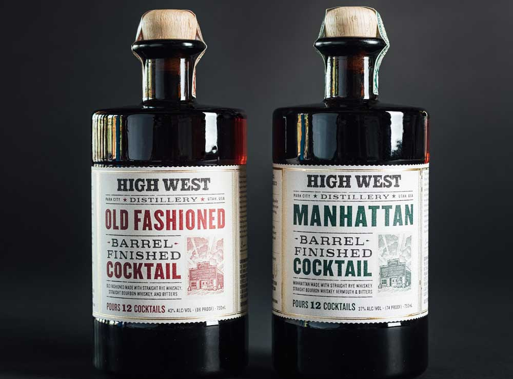 high west distillery barrel-aged cocktail