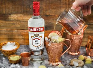 maple ginger moscow mule fall cocktail recipes