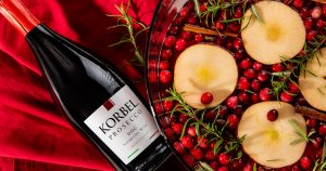 Korbel winter sangria new year's eve cocktail