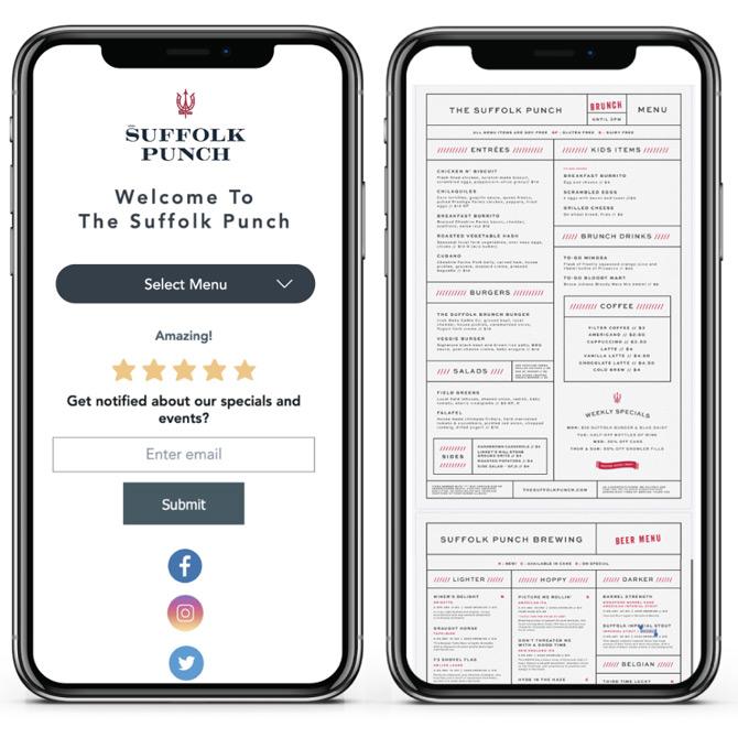 Barpay virtual menu