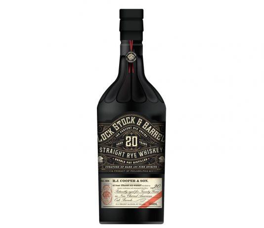 The Cooper Spirits Company Lock, Stock & Barrel 20-Year Rye Whiskey