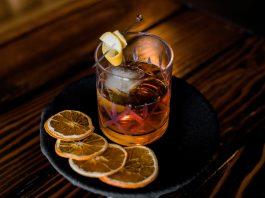 Skrewball cocktail Old Fashioned