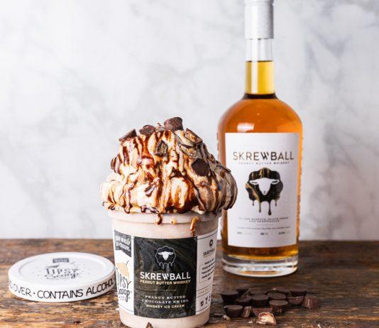 Skrewball Peanut Butter Chocolate Swirl Whiskey ice cream