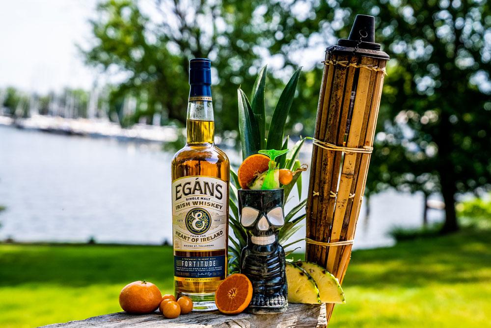 whiskey tiki cocktails