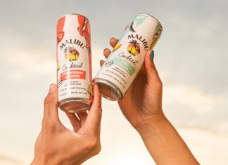 malibu cocktails in a can
